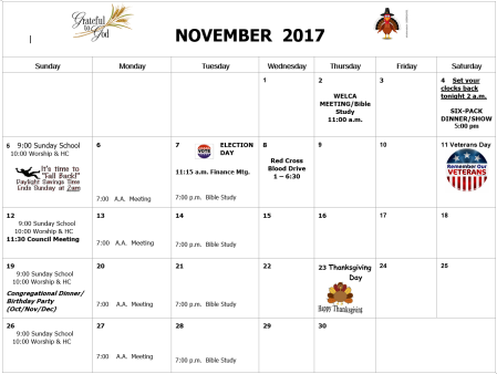St. Luke's Event calendar